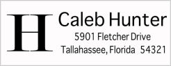 Address Labels - Simple Initial