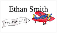 Calling Cards (CCK) - Airplane and Banner