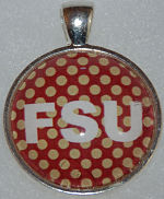 "Glass Pendant & Necklace - 1"" Round FSU"