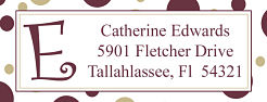 Address Labels - FSU Polka Dots