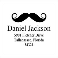 Address Labels - Mustache (Square Label)