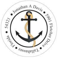 Address Labels - Anchor (Round Label)