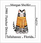 Address Labels - Cat  (Option 2-Square)