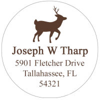 Address Labels - Deeer (Round Label)