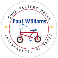 Address Labels - Kid's Bike (Option 1-Round)