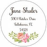 Address Labels - BoHo Rose  (Round)
