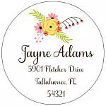 Address Labels - Flower Bouquet (Round)