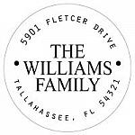 Address Labels - Simple Family Labels (Round)