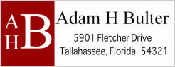Address Labels - Simple Monogram (3 Letters) w/Red Frame