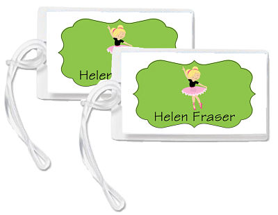 Bag Tags - Cute Ballerina