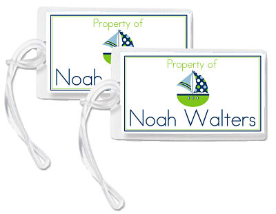 Bag Tags - Noah, The Sailboat