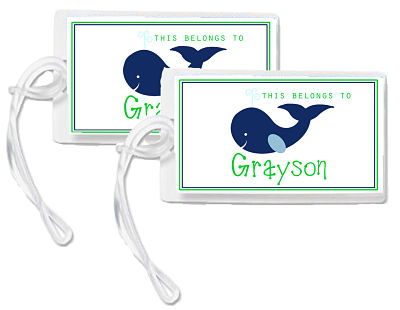 Bag Tags - Whimsical Whale