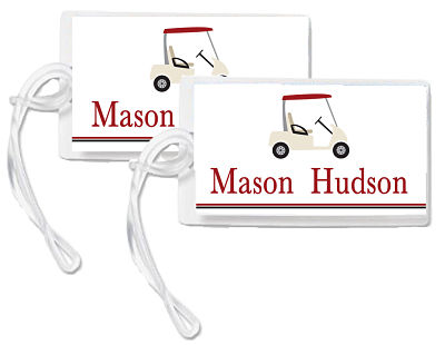 Bag Tags - Sports Theme/Golf Cart