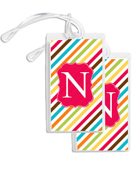 Bag Tags - Fun Multi-Colored Stripes