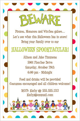 Halloween Party Invitations- Beware