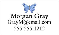 Calling Cards - Blue Butterfly