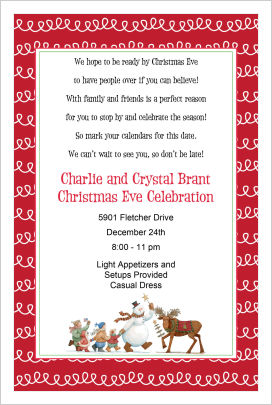 Christmas Invitations- Snowman, Kids, Moose Parade