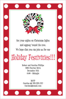 Christmas Invitations- Ho! Ho! Ho! Santa
