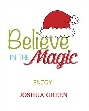 Christmas Cocoa Packets (CC)- Believe In The Magic (Santa Hat)