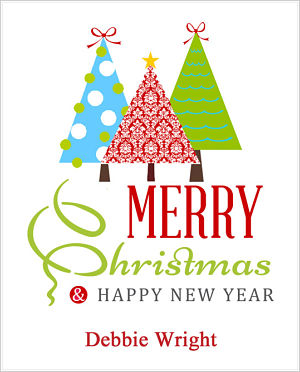 Christmas Cocoa Packets (CC)- Merry Christmas & Happy New Year (Three Christmas Trees)