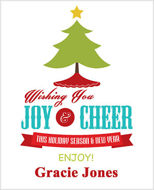 Christmas Cocoa Packets (CC)- Wishing You Joy and Cheer (Christmas Tree, Skirt and Star)