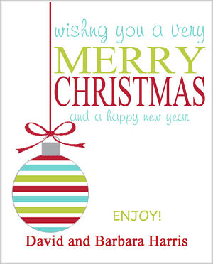 Christmas Cocoa Packets (CC)- Wishing You A Very Merry Christmas (Christmas Ornament)