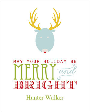 Christmas Cocoa Packets (CC)- May Your Holiday Be Merry & Bright (Deer)