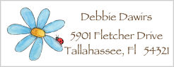 Address Labels - Daisy and Ladybug