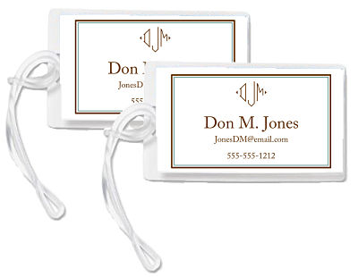 Bag Tags - Monogram - Diamond