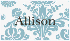 Enclosure Cards - Damask (Blue and White)