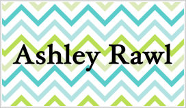 Enclosure Cards - Chevron (Blue, Green and White)