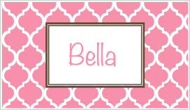 Enclosure Cards - Quatrefoil (Pink and White)