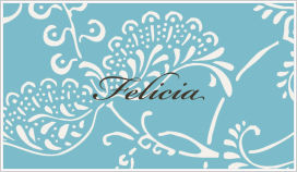 Enclosure Cards - Flowers (Blue and White)