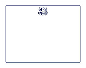 Flat Note Cards - Elegant Monogram