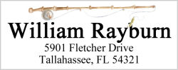 Address Labels - Fishing Pole