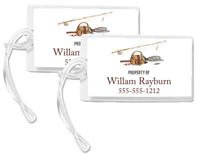 Bag Tags - Fishing Theme/Fishing Equipment