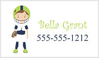 Calling Cards - Girl Football Player