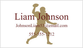 Calling Cards - Football Player Silhouette