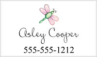 Calling Cards - Pink Dragonfly