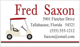 Calling Cards - Golf Cart