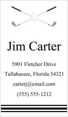 Calling Cards - Golf Clubs
