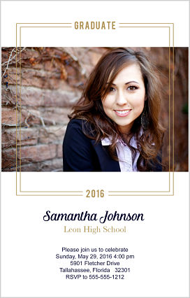 Graduation Invitations - Simple Graduation Invitations