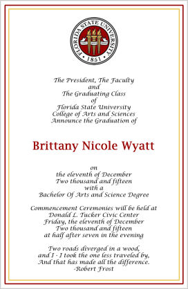 Graduation Invitations - College Graduation Invitation