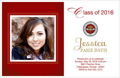 Graduation Invitations - School Emblem