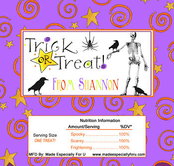 Halloween Candy Bar Wrappers (HCB) - Mr. Skelton and Friends
