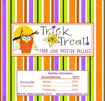 Halloween Candy Bar Wrappers (HCB) - Trick or Treat Owl
