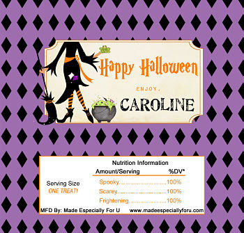 Halloween Candy Bar Wrappers (HCB) - Witches' Brew