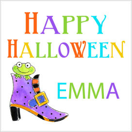 Halloween Enclosure Cards, Tags and Stickers (ECSH) - Frog In Shoe