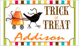 Halloween Enclosure Cards (ECRH) - Trick Or Treat Crow