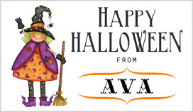 Halloween Enclosure Cards (ECRH) - Ava, The Witch